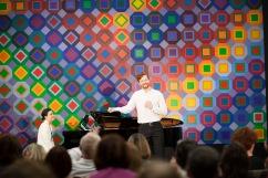Concert « D'Amour et de Mort » d'Andri Björn Robertsson, baryton-basse et d'Edwige Herchenroder, piano. Un concert des lauréats HSBC de l'Académie du Festival d'Aix en Provence le 11 juin 2016 à la Fondation Vasarely, Aix-en-Provence.