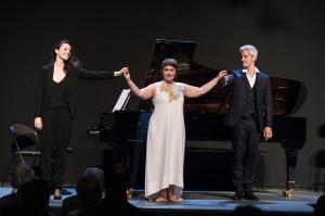 « De l'extase aux soupirs », concert des Lauréats HSBC de l'Académie du Festival d'Aix-en-Provence le 1er juillet 2017 à l'Hôtel Maynier d'Oppède. Avec Emmanuelle de Negri, soprano (lauréate HSBC de l'Académie 2008), Edwin Crossley-Mer